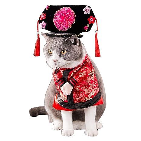 Tenflyer Divertido Chino Princesa Cosplay Ropa para Gatos ...