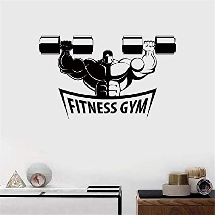 pegatinas de pared mariposas Fitness Gym Musculoso Culturismo Mancuernas Deportes para gimnasio