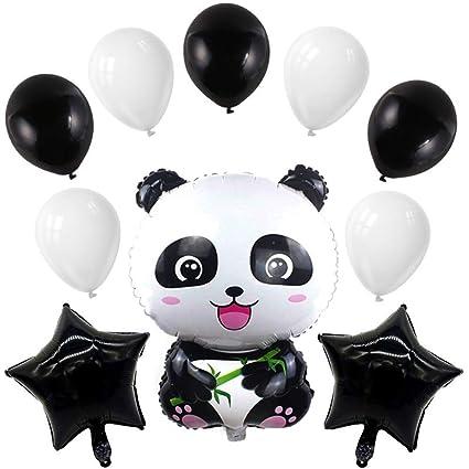 Toyvian 10 unids Panda Foil Globo Animal Helio Aluminio ...