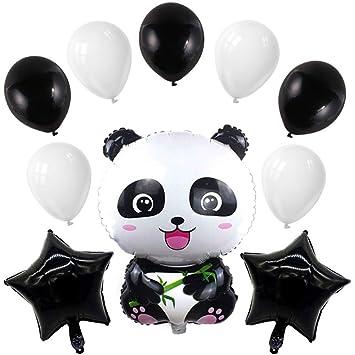 Toyvian Panda Globos para la decoración de la Fiesta temática Panda de cumpleaños para niños, 10 Piezas