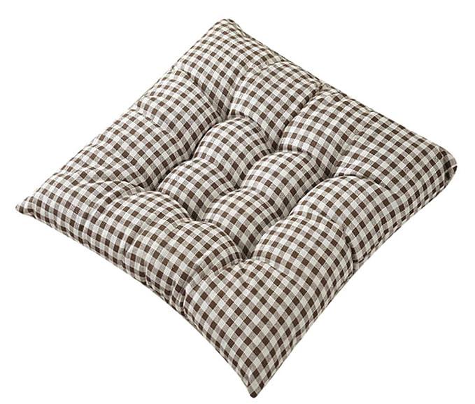 Amazon.com: LamourBear - Cojín para silla (mezcla de lino y ...