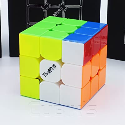 *THE VALK 3* - QiYi 3X3 Profesional & Competencia Cubo de Velocidad Magic Cube Rompecabezas 3D Puzzle - STICKERLESS: Juguetes y juegos
