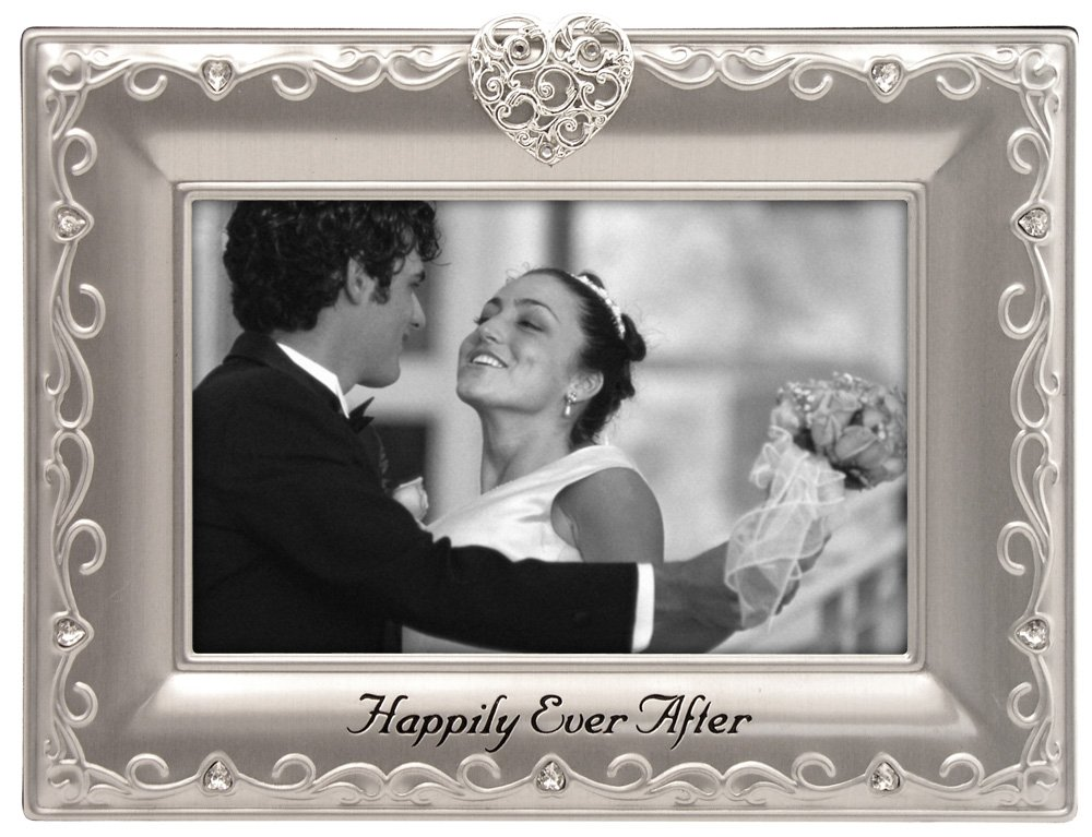 Malden International Designs Wedding, Happily Ever After, Picture Frame, 4 by 6-Inch, Silver 6993-46