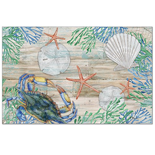 Counterart 24 Pack Disposable Paper Placemats  Clearwater Crab