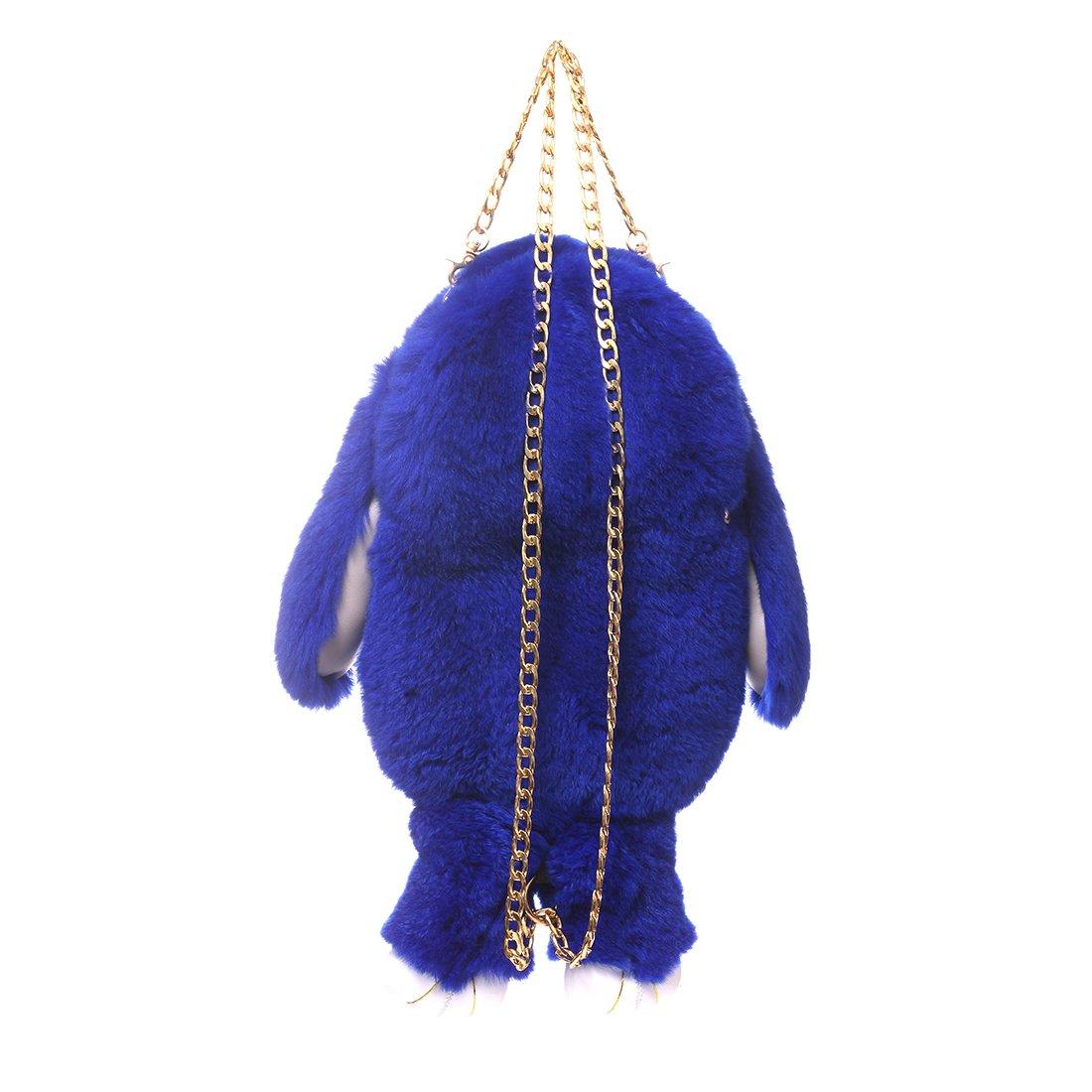 Amazon.com  URSFUR Kids Bunny Hare Backpack Rabbit Fur Shoulder Bags Plush  Doll Knapsack Toy blue  URSFUR 16e5654c821f8