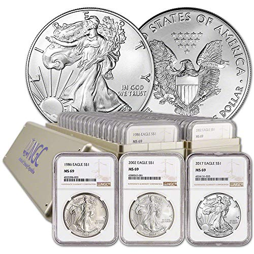 - 1986 P - 2018 Complete 33 COIN SILVER EAGLE SET MS-69