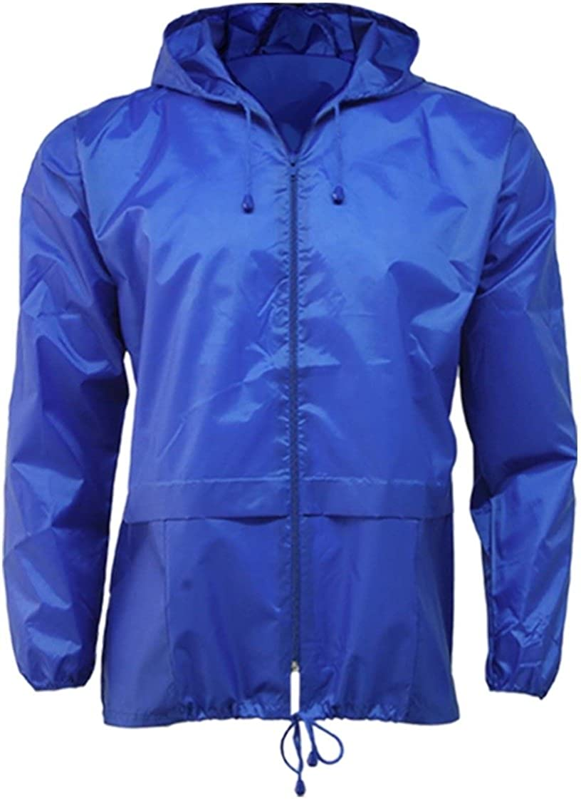 Global Attire Unisex Womens Mens Showerproof Kagoule Rain Jacket Ladies Gents Kagool Kagoul Waterproof Cover Outdoor Light Weight Top