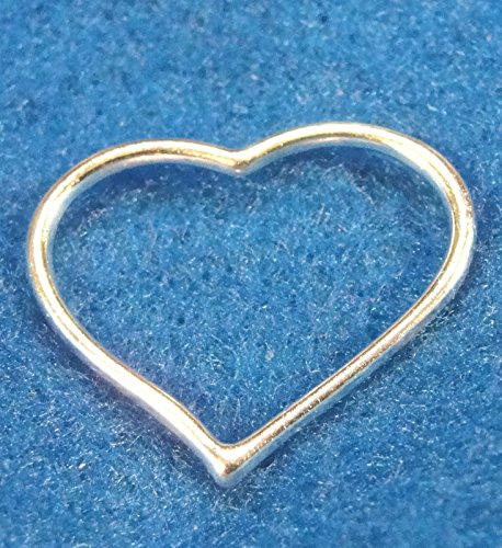10Pcs. Tibetan Silver-Plated Open Heart Charms Pendants Earring Drops H113 Crafting Key Chain Bracelet Necklace Jewelry Accessories -