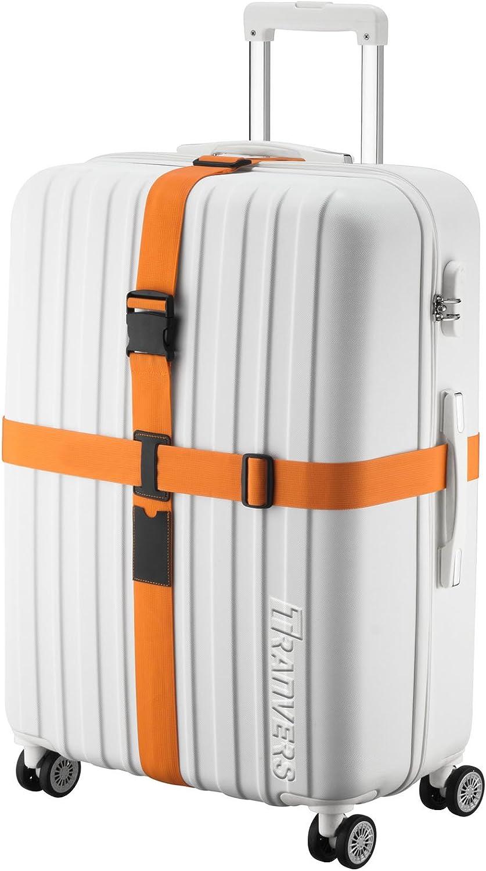 Flyshop 2 Pack Grey/&Orange Luggage Strap Suitcase Belt Travel Accessories