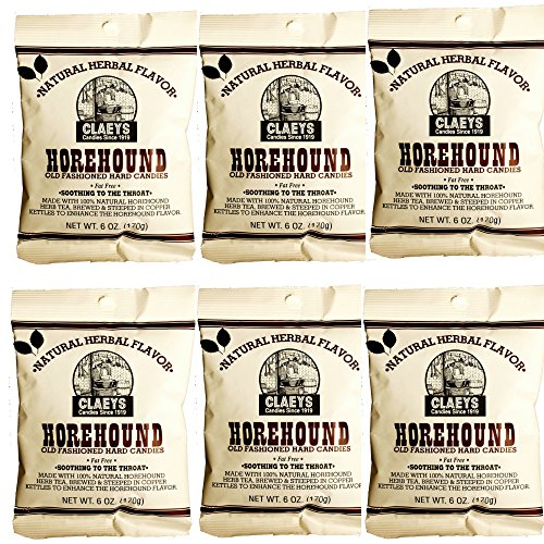 (Claeys Old Fashioned Hard Candy - 6 Pack - Horehound - Since 1919)