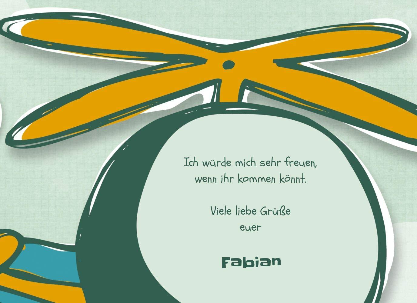 Einladungskarte Hubschrauber, 10 Karten, PastellHellOrange B07L1FCPQR | Zürich Online Shop  Shop  Shop  | Merkwürdige Form  | Zu verkaufen  b7c96b