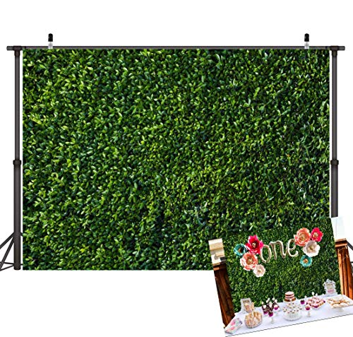 Art Studio 3D Green Leaves Wall Photography Backdrops Spring Nature Safari Party Decoration Outdoorsy Newborn Baby Shower Backdrop Wedding Birthday Photo Background Studio Props Booth Vinyl 7x5ft