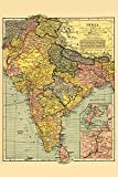 India - Panoramic Map (9x12 Art Print, Wall Decor Travel Poster)