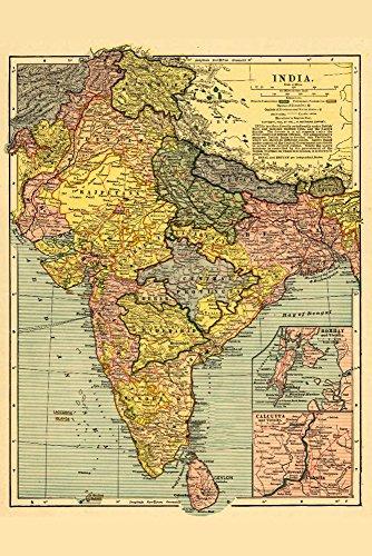 India - (1903) - Panoramic Map (12x18 Art Print, Wall Decor Travel Poster)