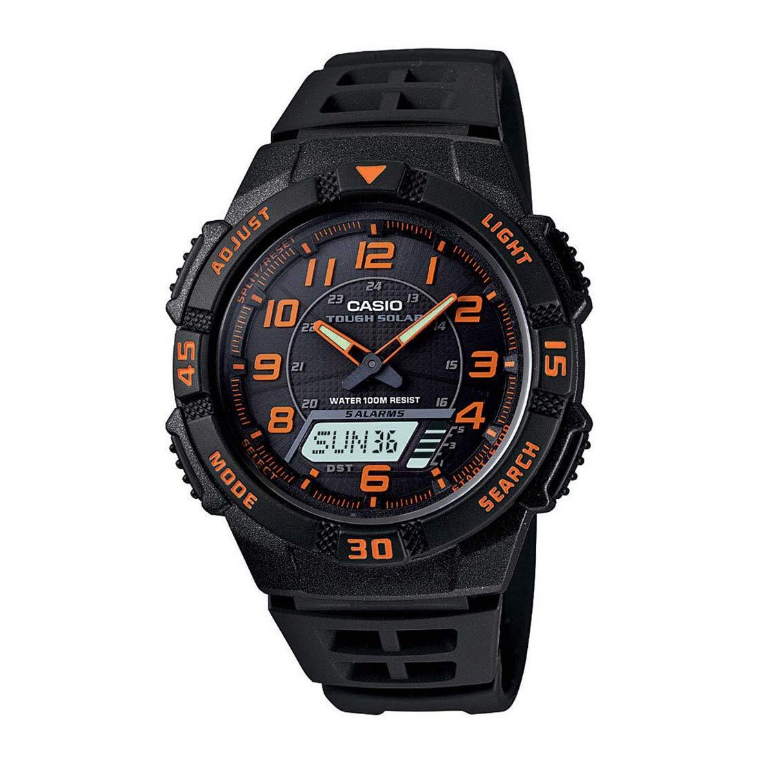 Men's Slim Casio Solar Multi-Function Analogue Digital Watch