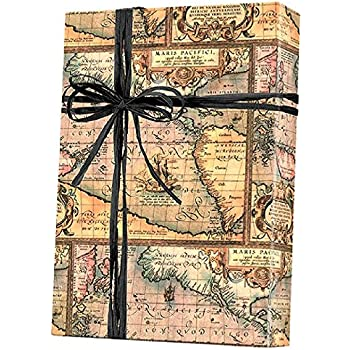 Amazon world map gift wrapping roll 24 x 15 birthday world map world traveller gift wrap wrapping paper 15ft roll gumiabroncs