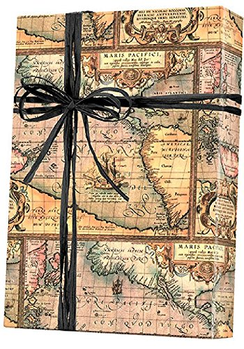 Amazon.com: World Map World Traveller Gift Wrap Wrapping Paper
