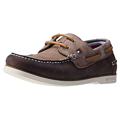 e7b11cb12f02 Tommy Hilfiger Knot 1n Mens Boat Shoes Coffee - 45 EU  Amazon.co.uk ...