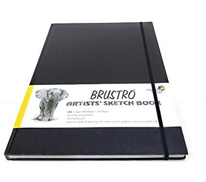 Brustro artists sketch book stitched bound a3 110 gsm 160 pages brustro artists sketch book stitched bound a3 110 gsm 160 pages acid free fandeluxe Choice Image
