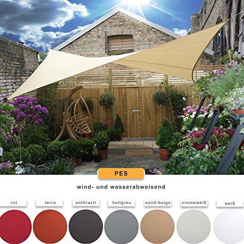 CelinaSun-Sonnensegel-Sonnenschutz-Garten-UV-Schutz-PES-wasser-abweisend-imprgniert-Dreieck