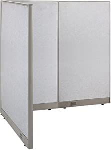 "GOF Freestanding L Shaped Office Partition, Large Fabric Room Divider Panel, 48""D x 60""W x 72""H"
