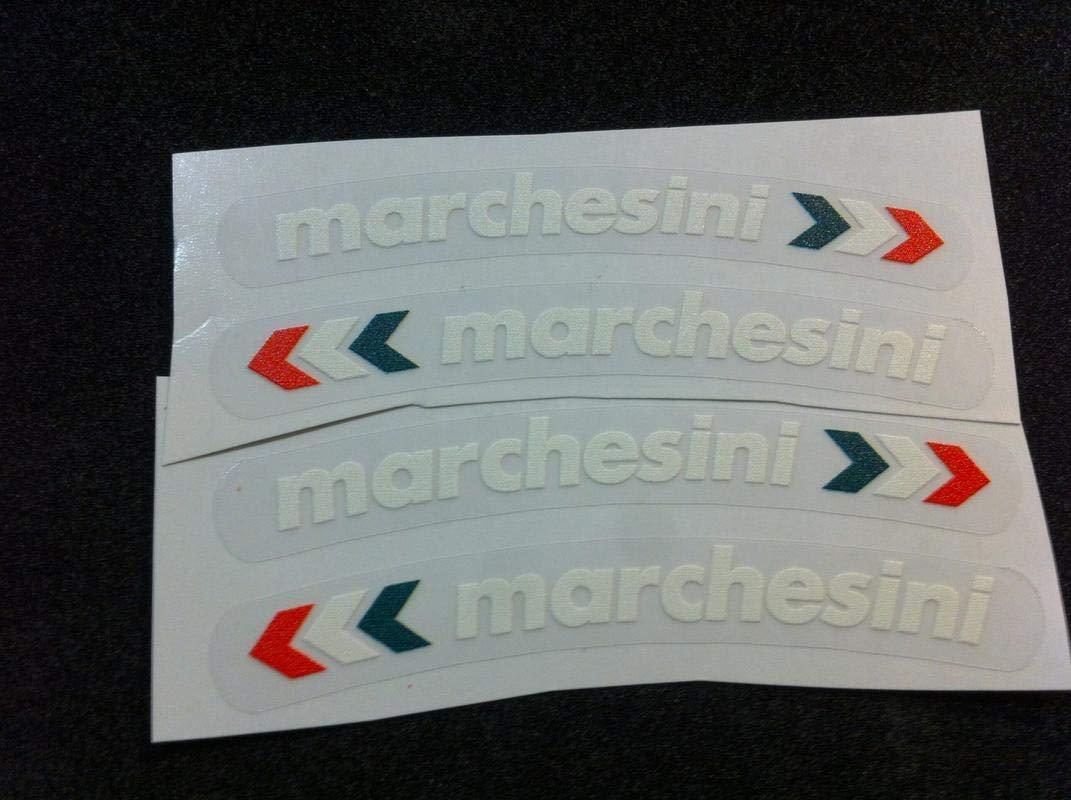 Adh/ésifs Jantes Marchesini Blanc sur Transparent
