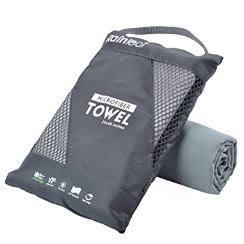 Rainleaf Microfiber Beach Swim Towel