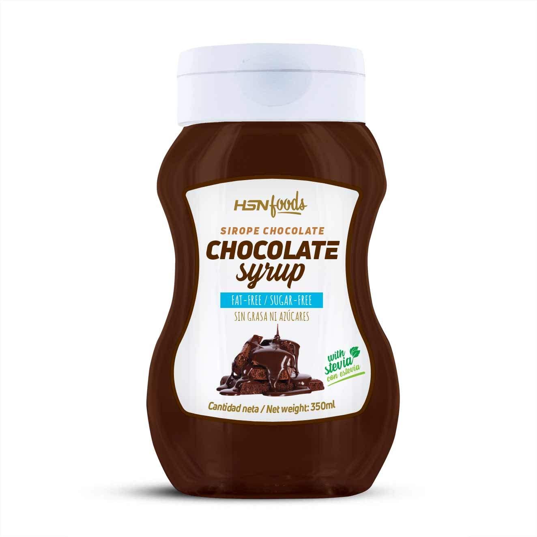 Sirope de Chocolate HSN Foods - Sin Grasa, Sin Azúcar, Edulcorado con Estevia, Apto Vegetarianos - 350ml: Amazon.es: Alimentación y bebidas