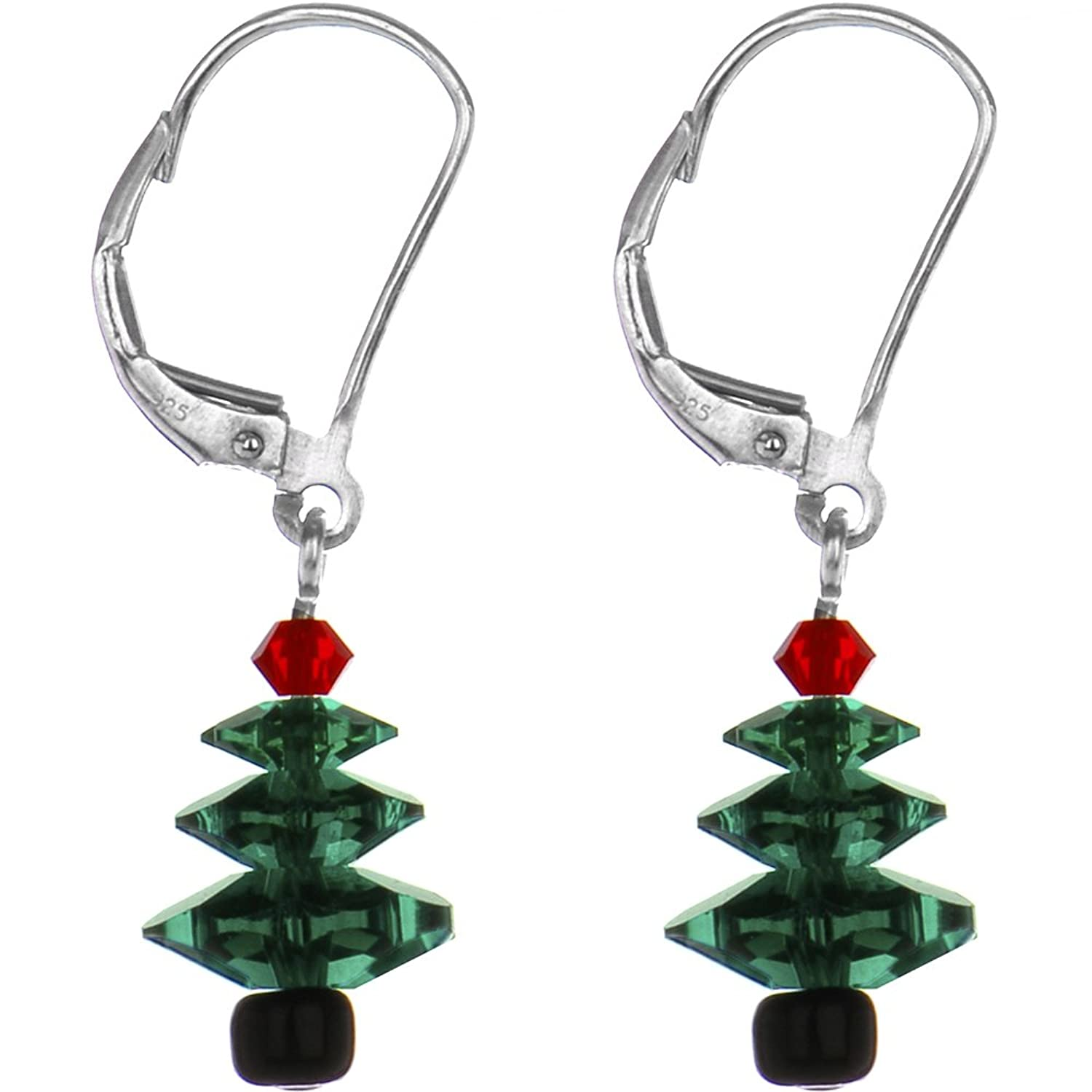earrings tree snowy christmas