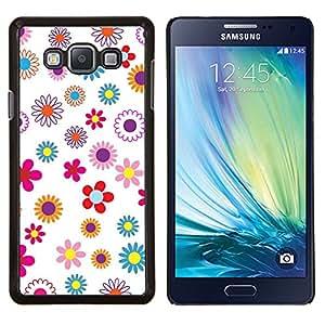LECELL--Funda protectora / Cubierta / Piel For Samsung Galaxy A7 A7000 -- Modelo del papel pintado floral floreciente primavera colorido --
