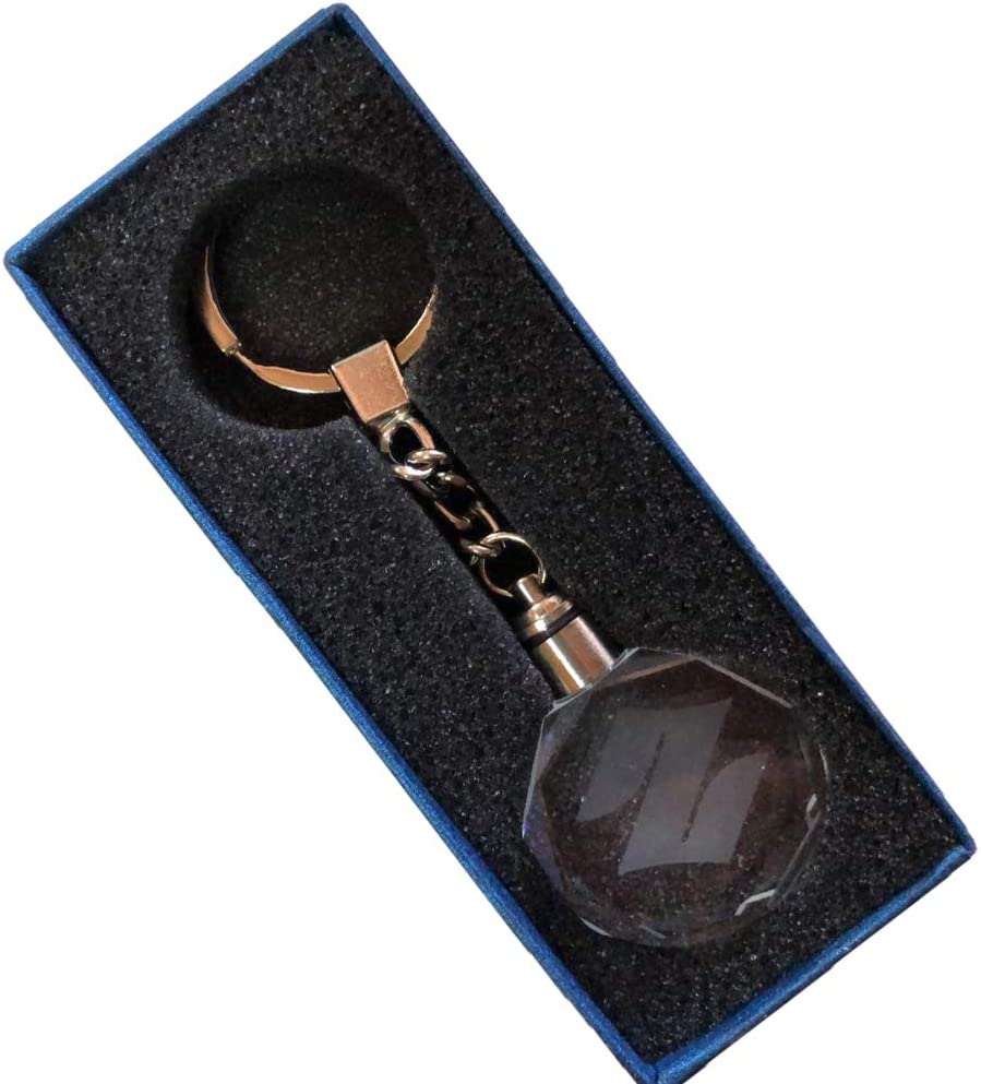 Coffret cadeau claire Furzon /Éclairage LED changeant Porte-cl/és lumineux en cristal avec logo de voiture Aston Martin
