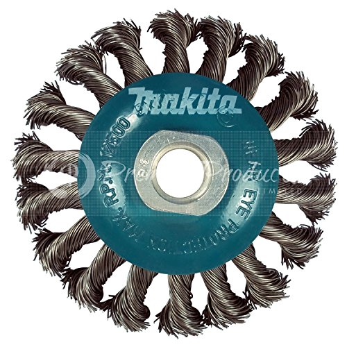 Angle Grinder Wire Wheel - Makita 1 Piece - 4 Inch Knotted Twist Wire Wheel Brush For Grinders - Heavy-Duty Conditioning For Metal - 4