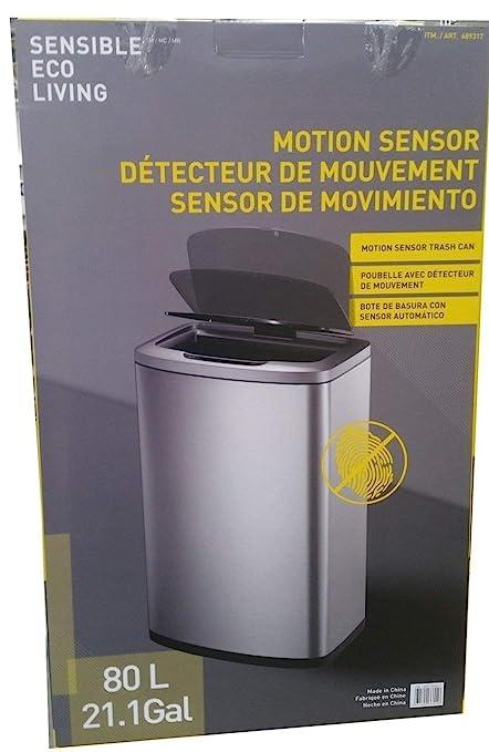 Cubo de basura de 80 litros con sensor de movimiento para cocina.