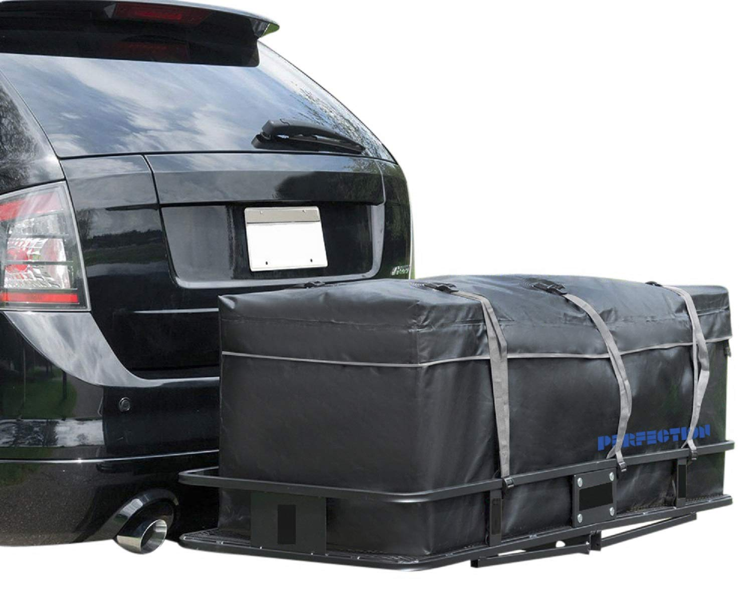 100/% Waterproof Large Hitch Tray Cargo Carrier Bag 59 x 24 x 24 Perfection Updated Hitch Bag Large Bonus Storage Bag Included 20 Cu Ft