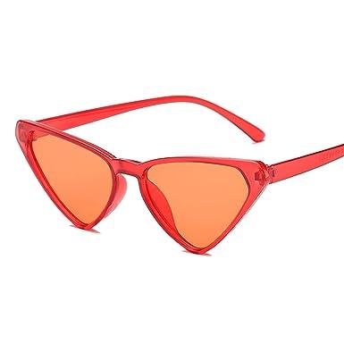 Amazon.com: Gafas de sol triangulares para mujer, marco de ...