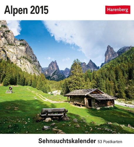 Alpen Sehnsuchtskalender 2015: Sehnsuchtskalender, 53 Postkarten