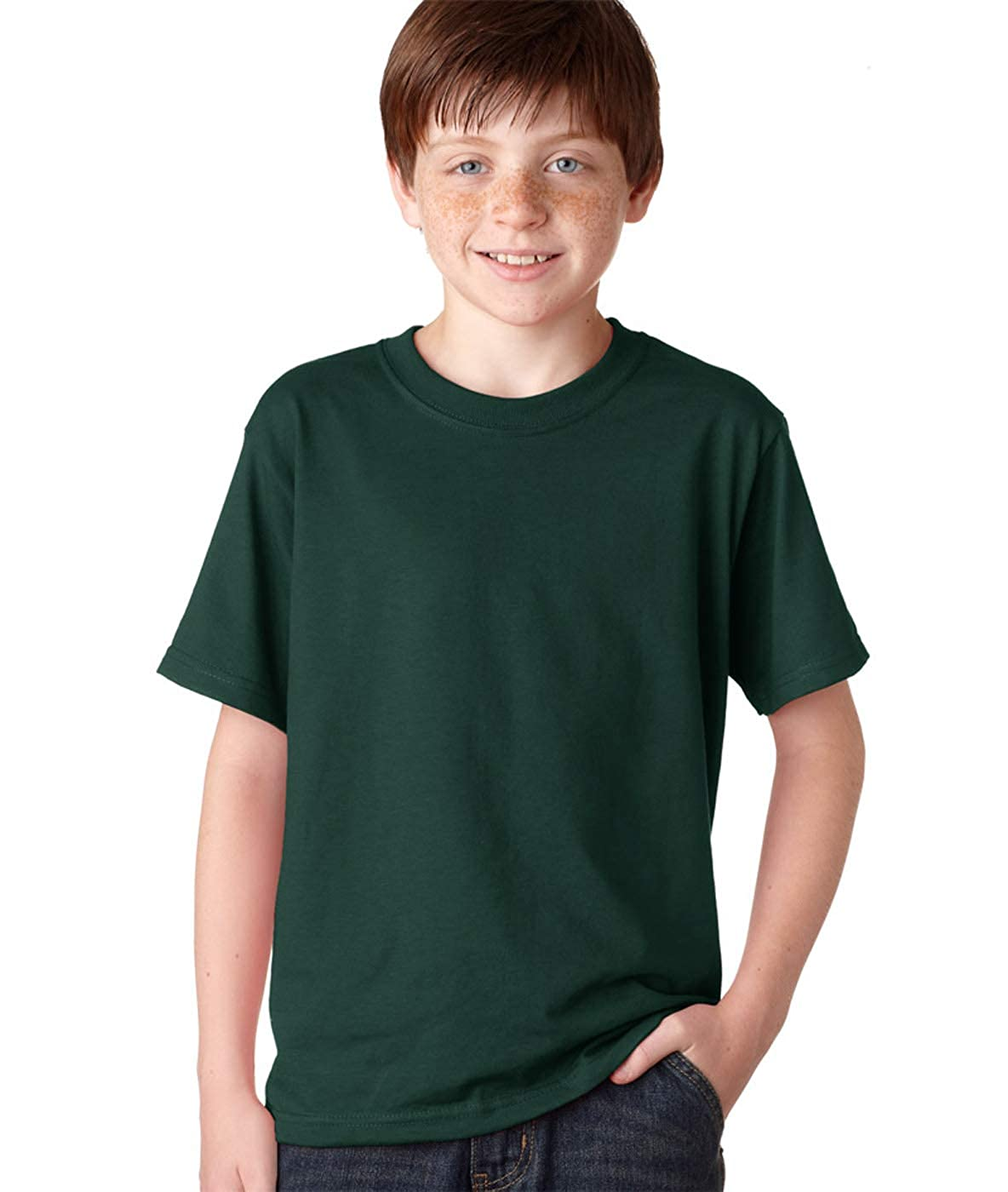 Jerzees Big Boys Rib Collar Tear Away Label T-Shirt