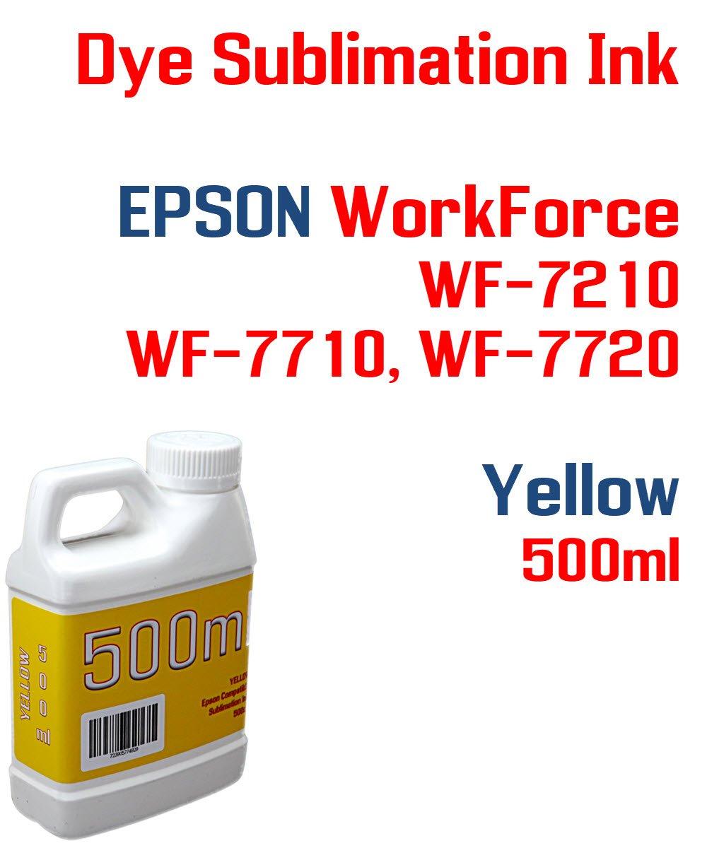 染料昇華インク – イエロー500 ml – Workforce wf-7210 wf-7710 wf-7720プリンタインク熱転送 – 昇華型印刷 B07CZZDLD8