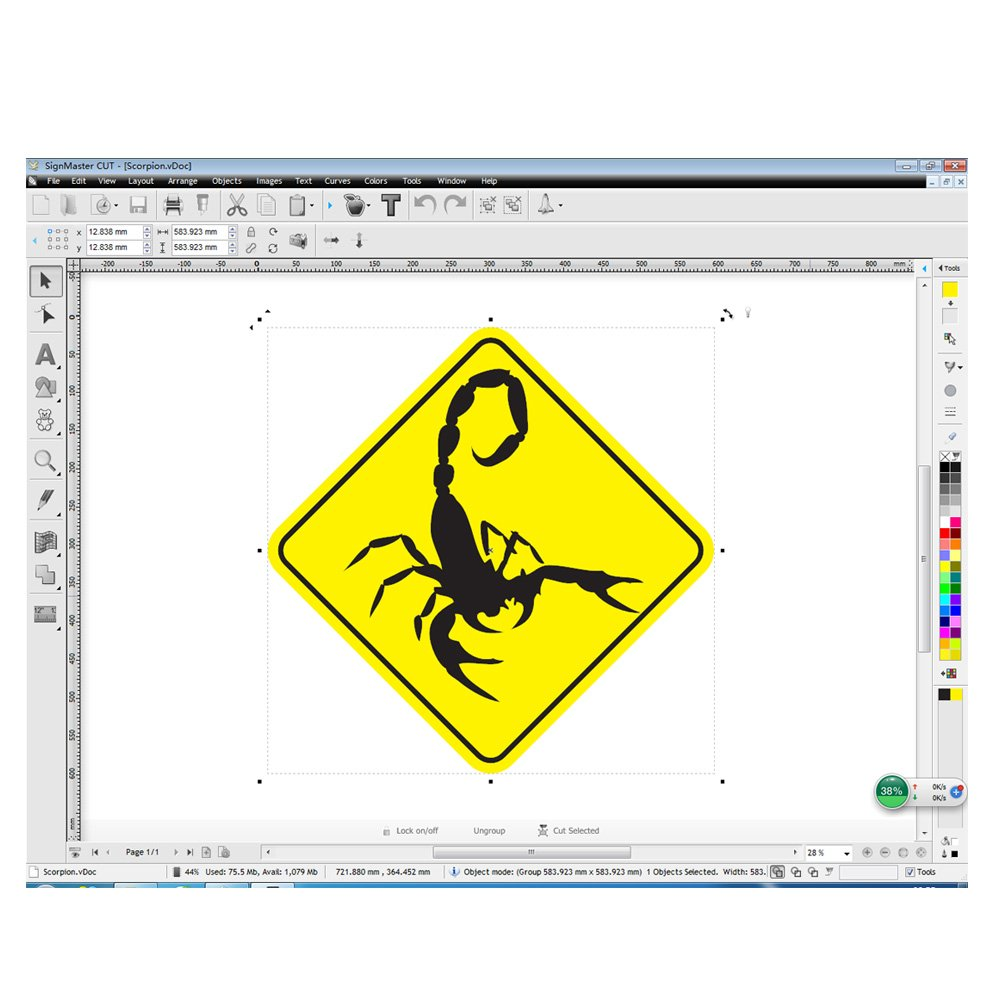 MKCUTTY 27'' Vinyl Cutter Sign Cutting Plotter Machine With SignMaster  (Design + Cut) Software