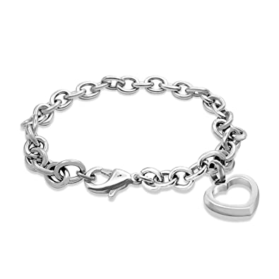 Amazon.com: 555Jewelry - Pulsera de acero inoxidable para ...