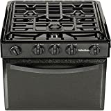 Suburban 3206A Gas Range with Conventional Burners - Black w/Piezo Ignition, 17