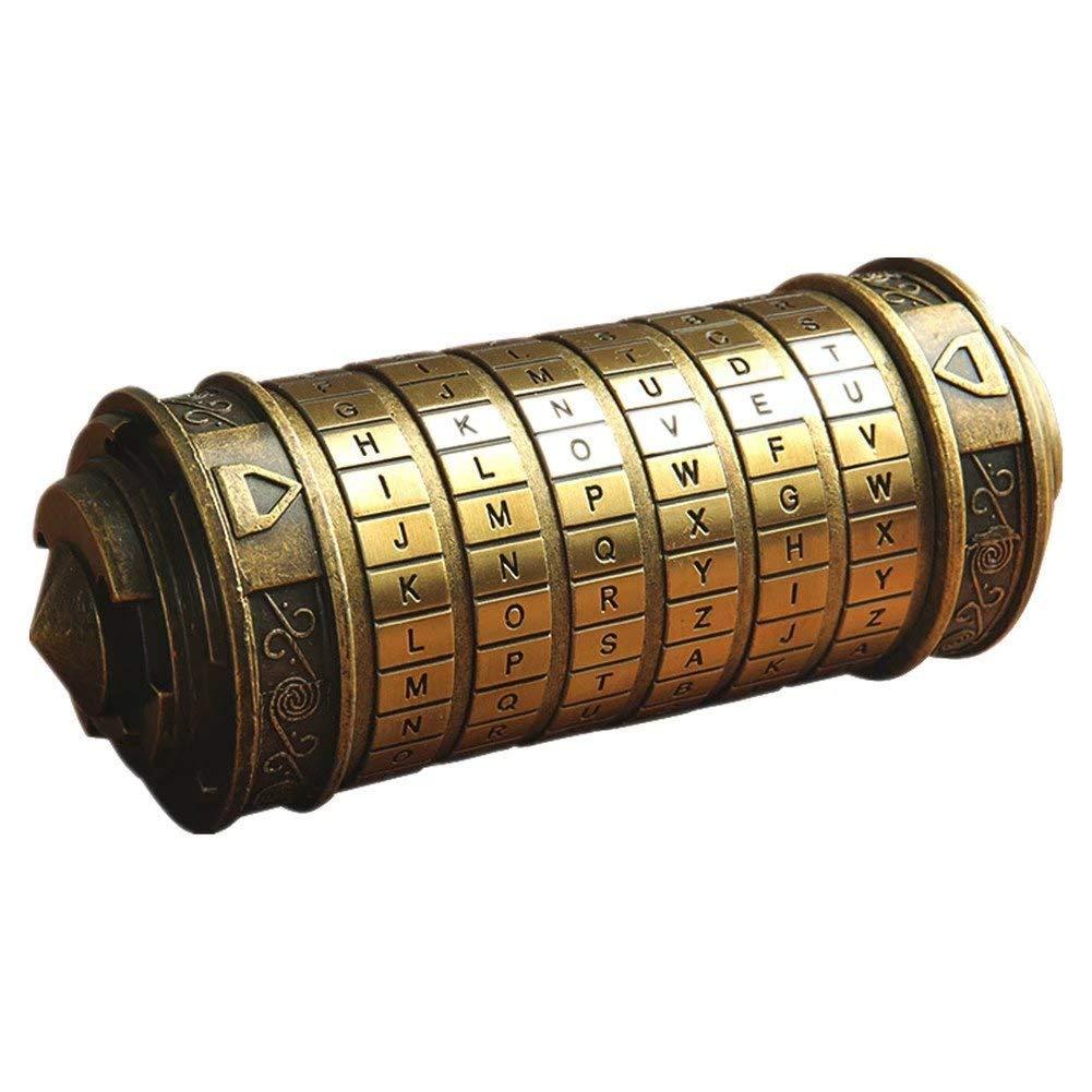 ArtRest Da Vinci Code Mini Cryptex Valentine's Day Interesting Creative Romantic Birthday Gifts for Her(Bronze)
