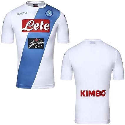 Kappa Maillot SSC Napoli Away Kombat Extra 2016 17 blanc WHITE-AZURE ... 7ef8453a84540