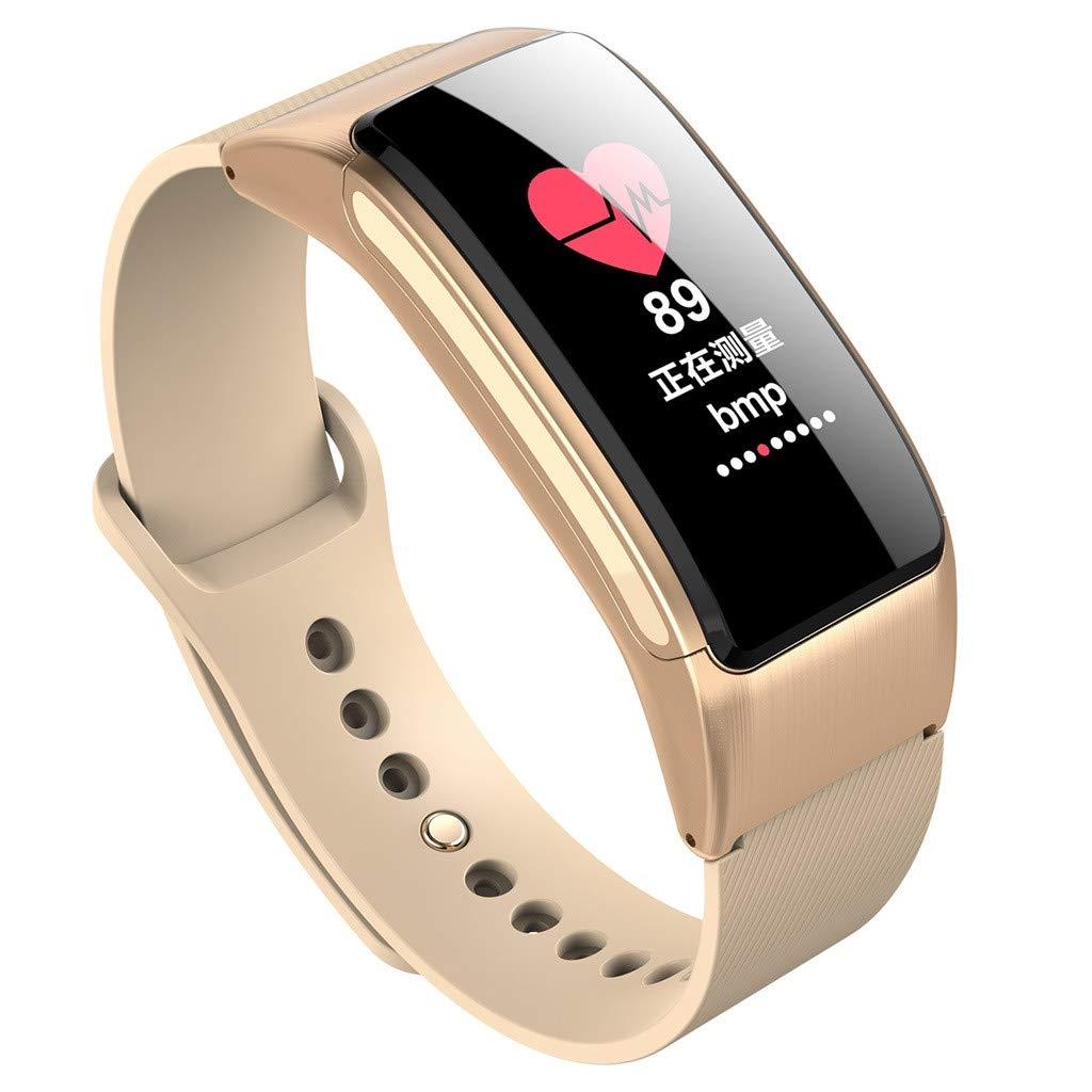 Montre Connectée, Watch Homme Femme, Trackers dactivité, Podomètres Bracelet Intelligent Appelez Bluetooth Casque 2 en 1 Montre Intelligente: Amazon.fr: ...