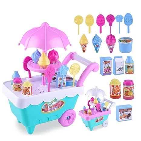 ... Caramelo Helado Carrito Mini empujador Coche Juguete simule Jugar Juguete con música Mejor Regalo para niños y niñas (Color Aleatorio): Amazon.es: Hogar