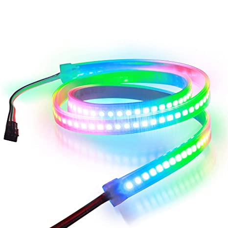 newest collection 68f1e 93a4c Aclorol WS2812B 144 Pixels RGB LED Strip Individually Addressable 5V, 3.3ft  WS2812B WS2812 1M 144 LEDs Programmable Dream Color Strip Lighting ...