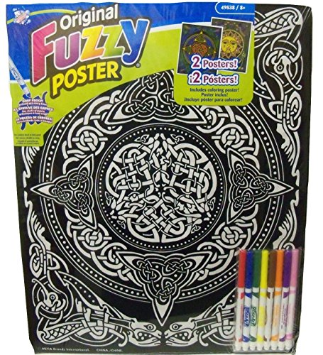 Fuzzy Art Set (Roseart Original Fuzzy 2 Poster Set ~ Arts and Crafts (Celtic Knots + Mosaic Sun; 16