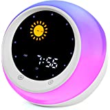 I·CODE Sun & Moon Rise Alarm Clock for Kids, Children's Sleep Trainer,Sleep Sound Machine, Wake Up Light & Night Light, 28 Soothing Sounds,Teach Kids Day & Night
