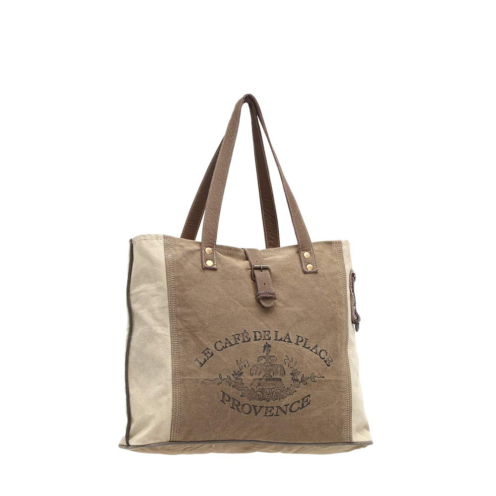 c4e3828408b4 Myra Bags Provence Upcycled Canvas Tote Bag S-0939