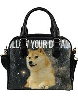Angelinana Custom Women's Handbag Space Doge Follow Your Dreams Fashion Shoulder Bag
